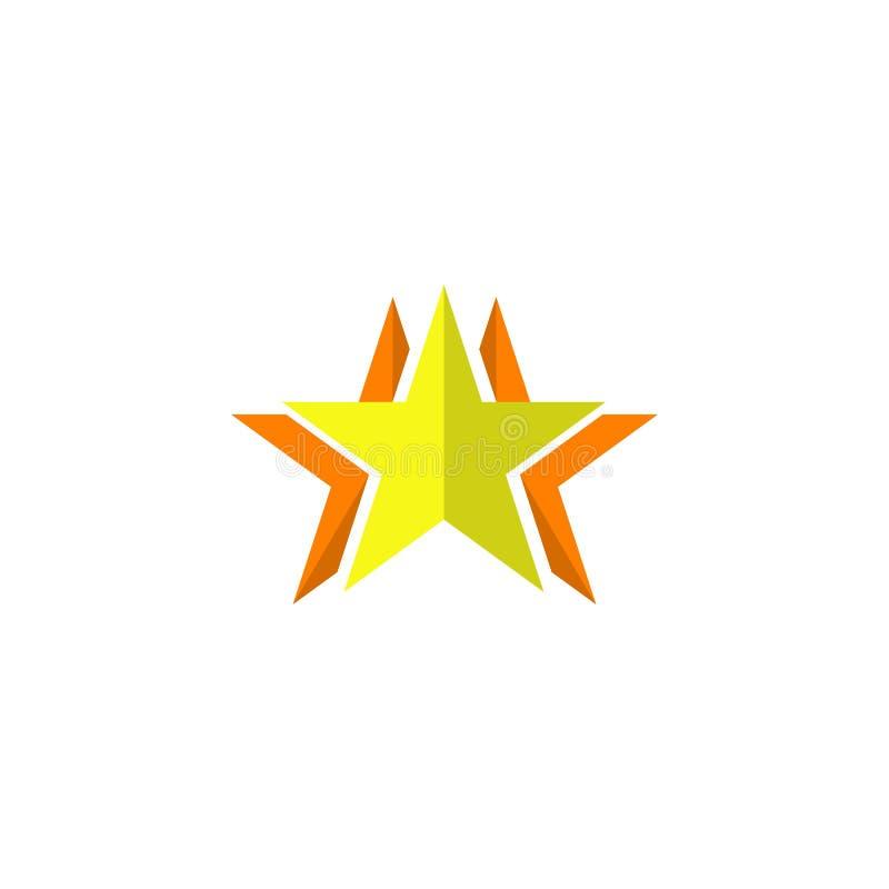 Estrella del vidrio verde del vector Ejemplo del elemento del logotipo dise?o del s?mbolo de la estrella Colecci?n coloreada conc ilustración del vector
