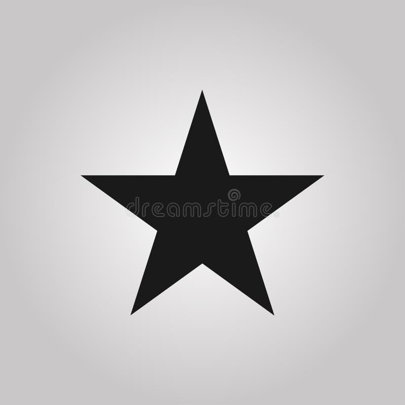 Estrella del vidrio verde del vector Símbolo del premio, de la decoración, de la calidad, del grado etc Ilustración del vector ilustración del vector