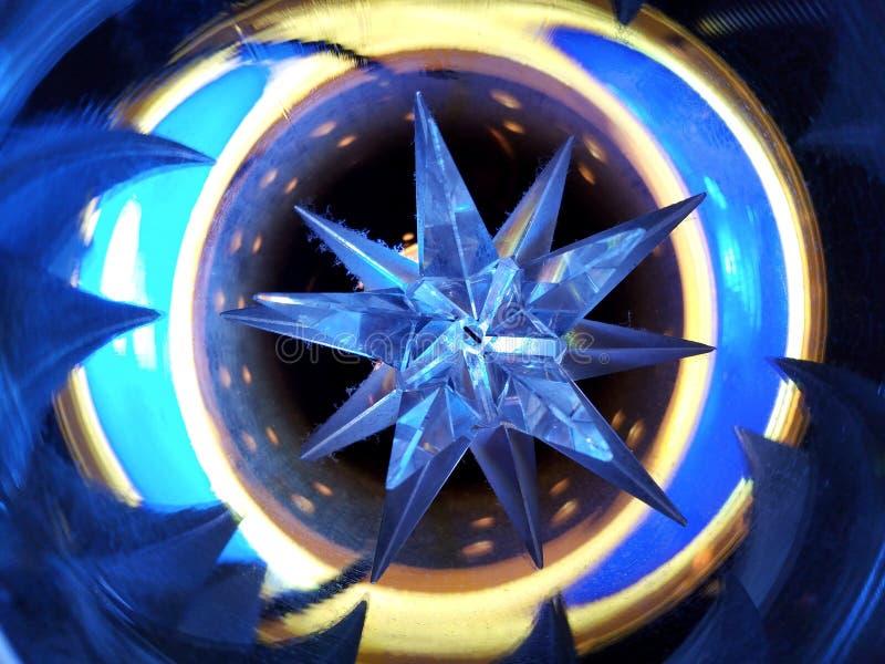 Estrella en azul imagen de archivo libre de regalías
