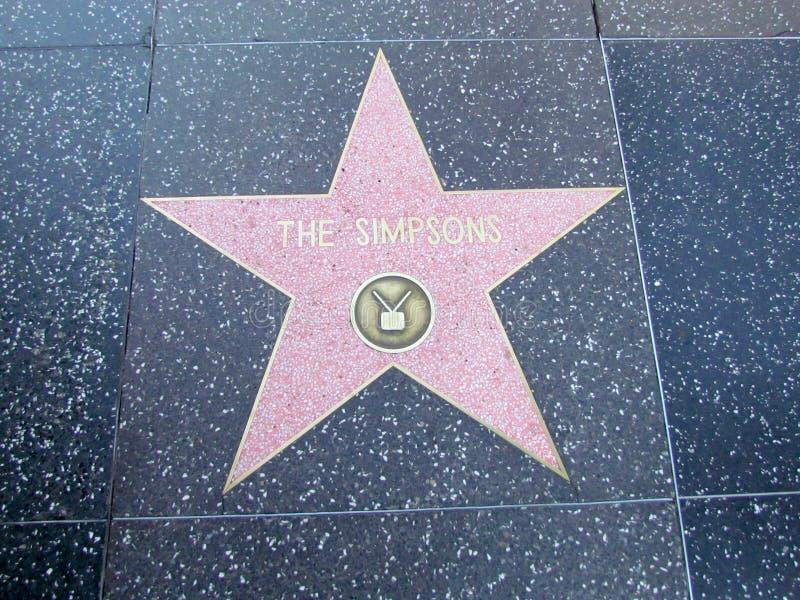 Estrella en el paseo de Hollywood Boulevard de la fama en LA imagen de archivo libre de regalías