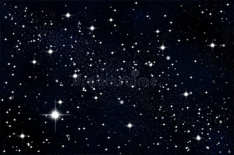 Estrella en el universo ilustración del vector