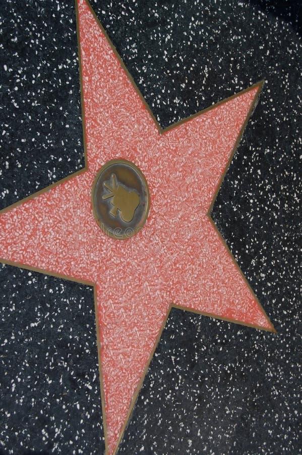 Estrella en la caminata de la fama foto de archivo