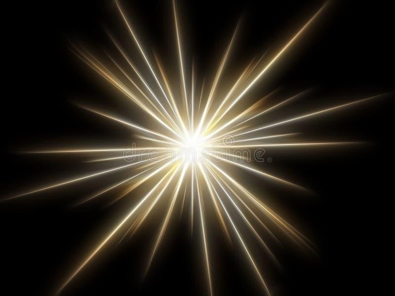 Estrella en un fondo negro. ilustración del vector