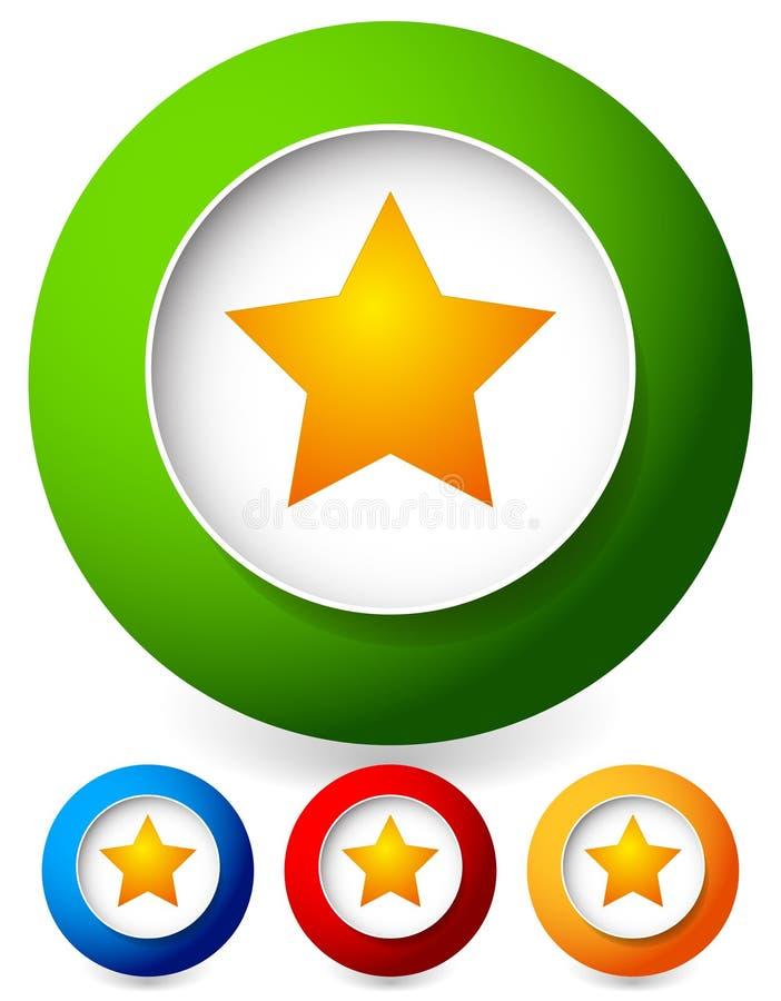 Estrella en un icono del círculo Gráficos de vector ilustración del vector