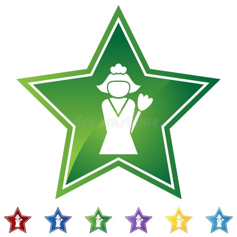 Estrella fijada - servicio de la limpieza libre illustration