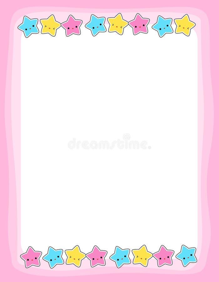 Estrella/frontera de las estrellas stock de ilustración