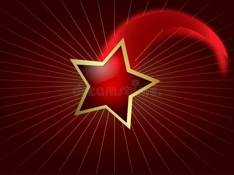 Estrella fugaz ilustración del vector