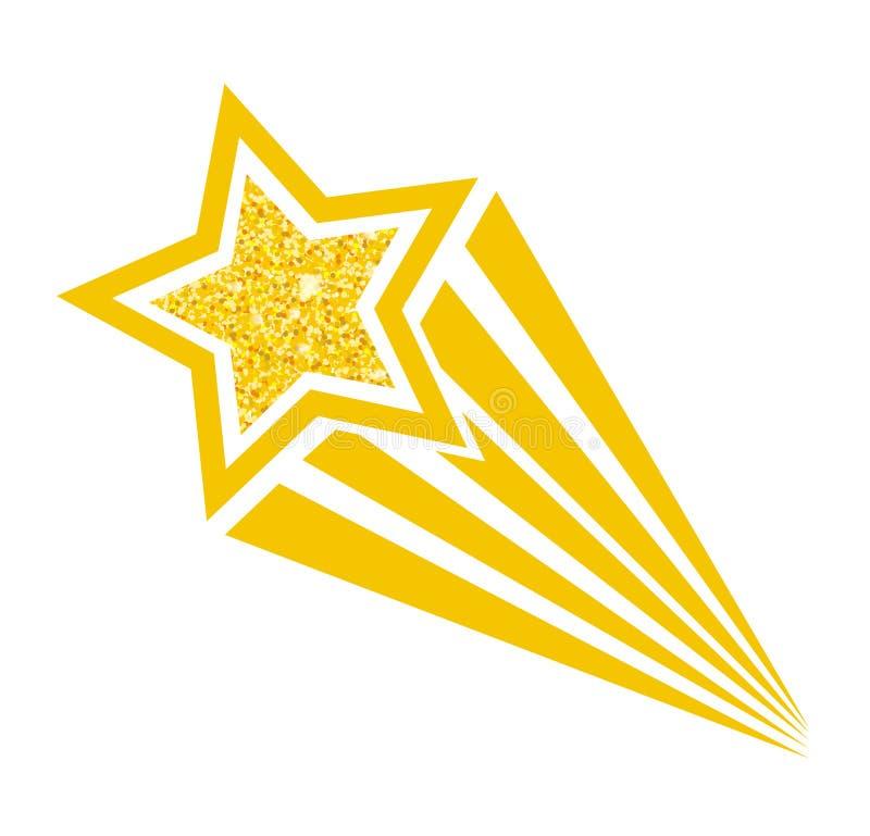 Estrella fugaz cómica retra del estilo del arte pop de la historieta Illustra del vector ilustración del vector