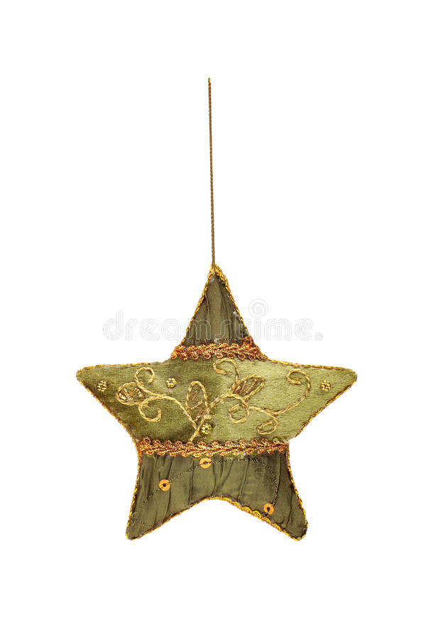 Estrella hecha a mano bordada de la Navidad imágenes de archivo libres de regalías