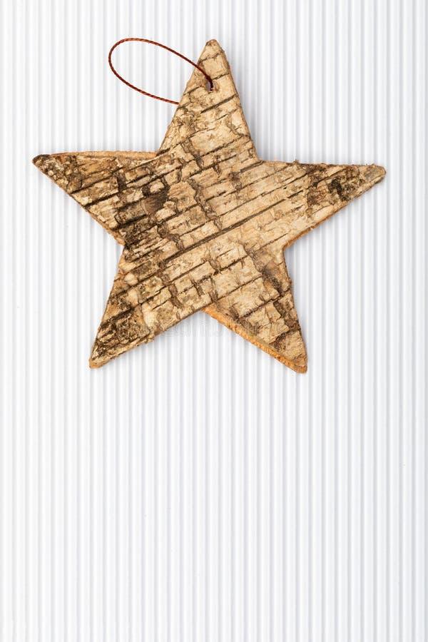 Estrella hermosa de la corteza de abedul ilustración del vector