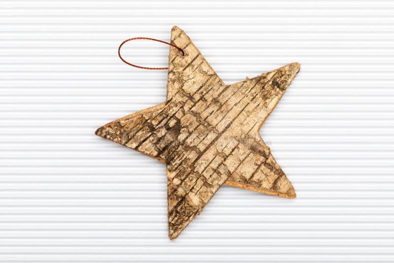 Estrella hermosa de la corteza de abedul stock de ilustración