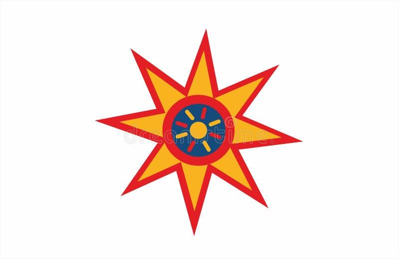 Estrella Ilustración Diseño de la estrella ilustración del vector
