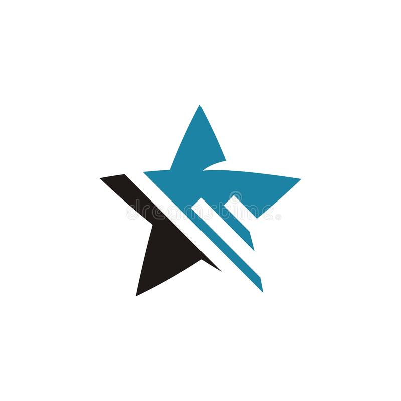Estrella Logo Design stock de ilustración