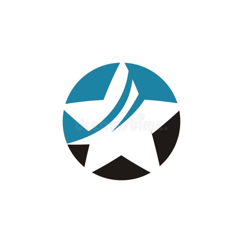 Estrella Logo Design ilustración del vector