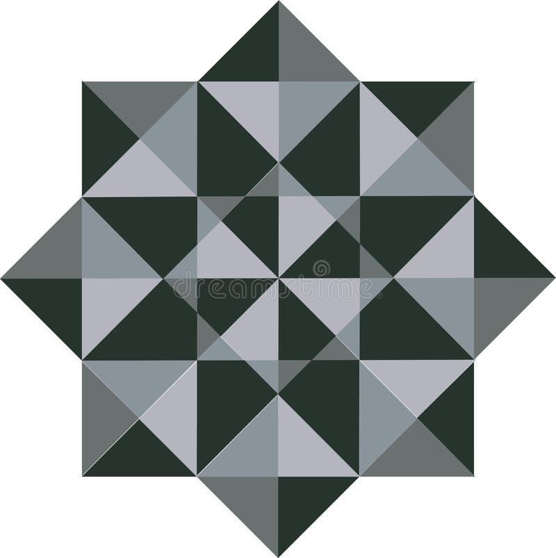 Estrella Logo Pattern abstracto, vector Logo Design ilustración del vector