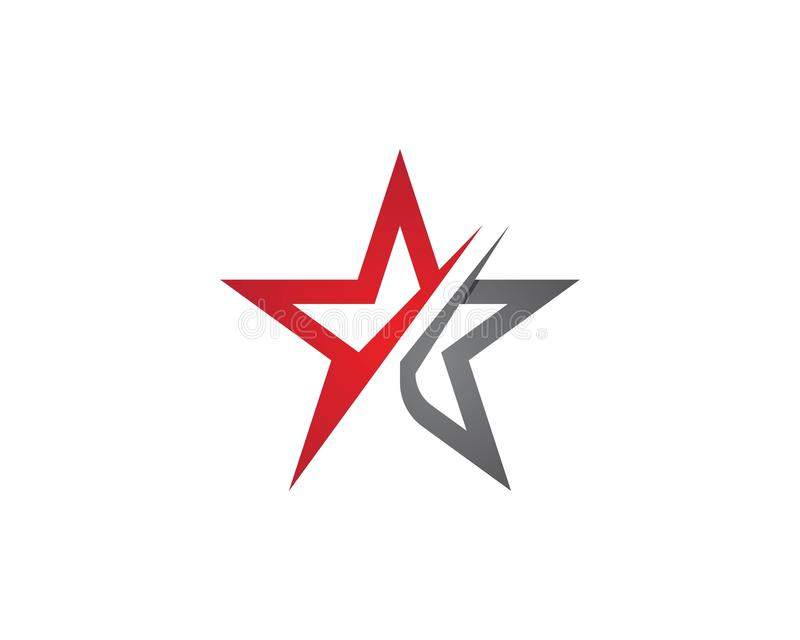 Estrella Logo Template stock de ilustración