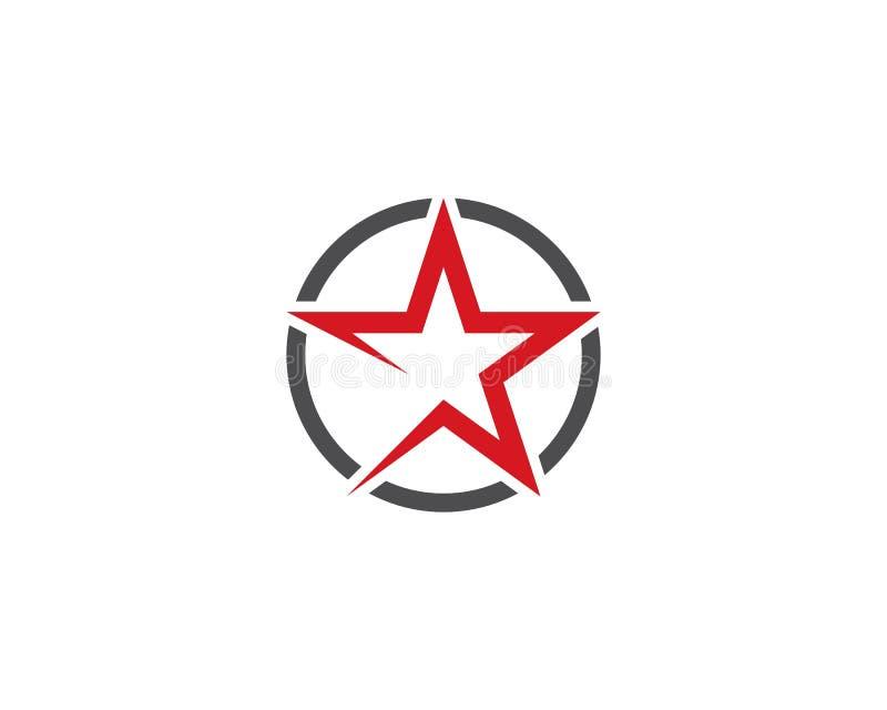 Estrella Logo Template ilustración del vector