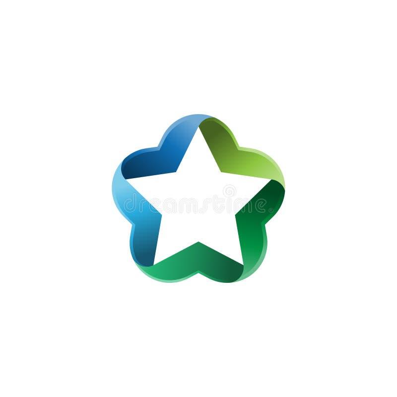 Estrella Logo Template Muestra creativa o símbolo de la estrella abstracta Elemento del diseño libre illustration