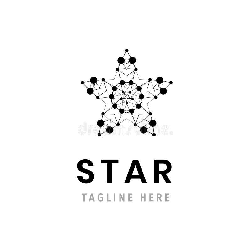 Estrella Logo Template Símbolo de la compañía Elemento de marcado en caliente del negocio Icono corporativo ilustración del vector
