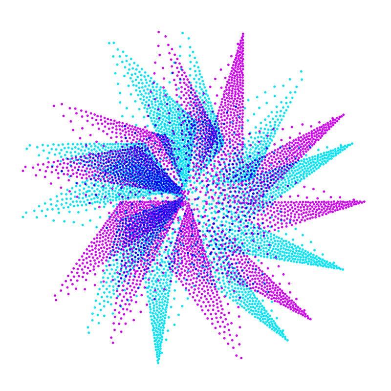 Estrella mística Símbolo geométrico abstracto Vector ilustración del vector