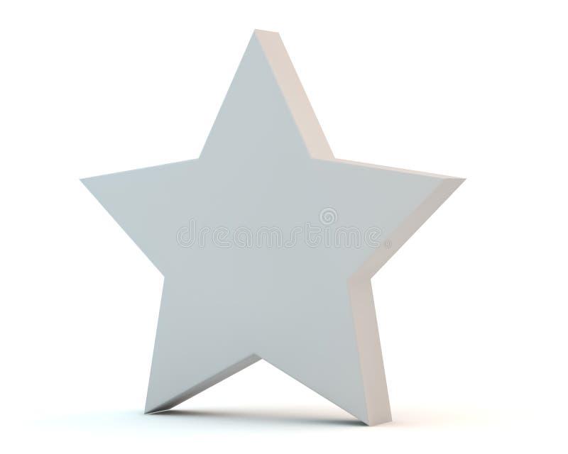 Estrella mate blanca simple ilustración del vector