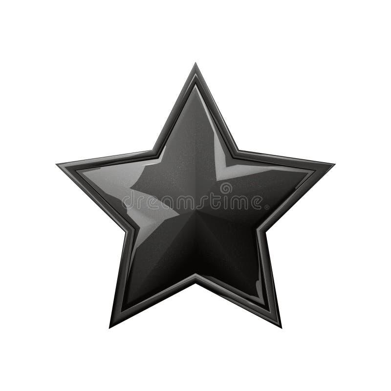 Estrella negra stock de ilustración