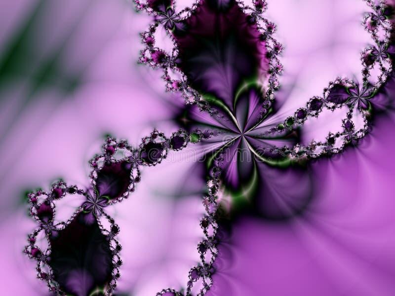 Estrella púrpura de la flor de la perla romántica fotografía de archivo libre de regalías
