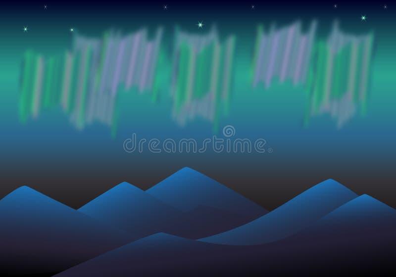 Estrella polar de la aurora fotografía de archivo