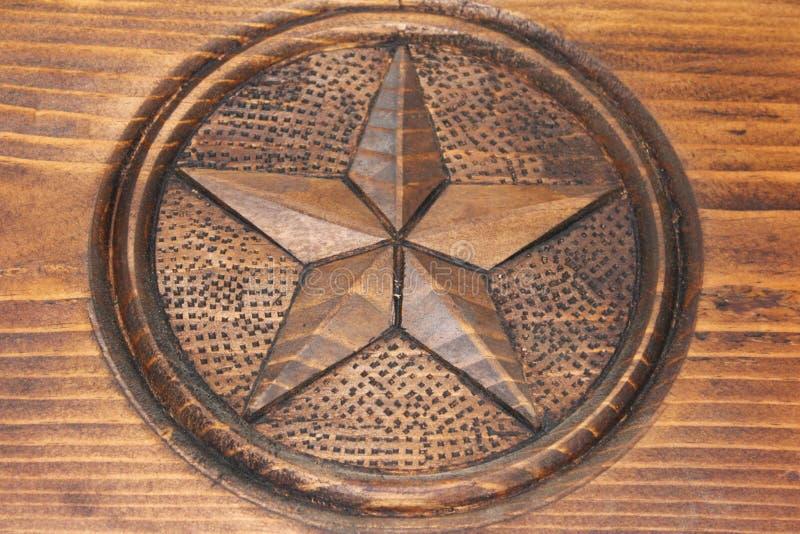 Estrella rústica de madera fotografía de archivo