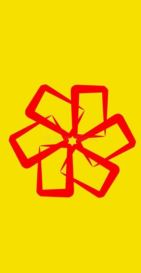Estrella roja ilustración del vector