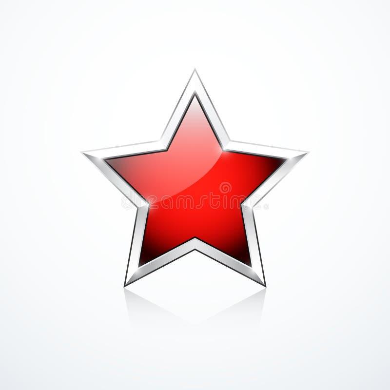 Estrella roja del vector ilustración del vector