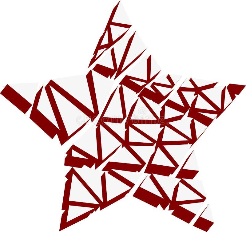 Estrella roja elemento 3d ilustración del vector