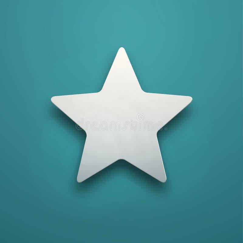 Estrella simple blanca ilustración del vector