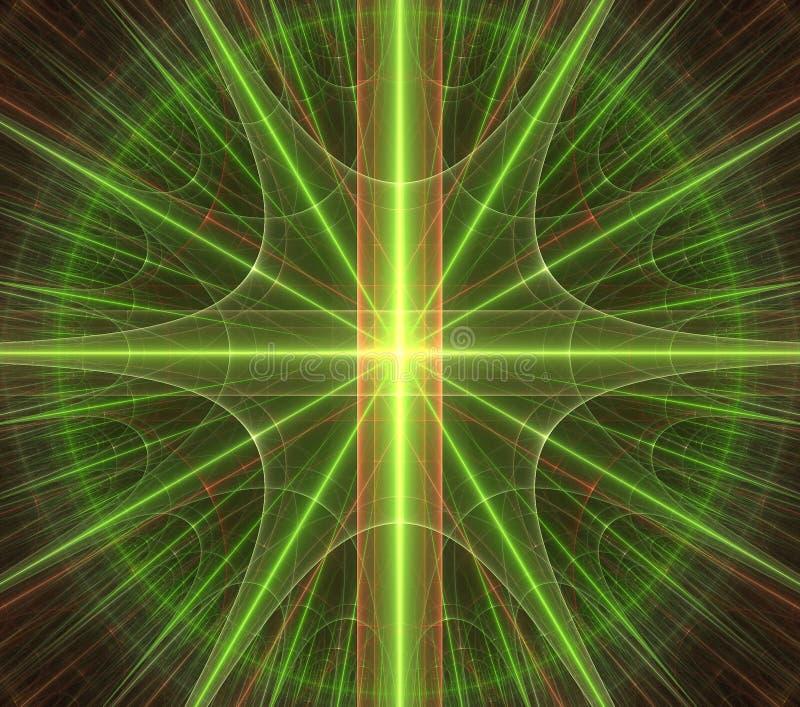 Estrella verde, ornamentn, modelo stock de ilustración