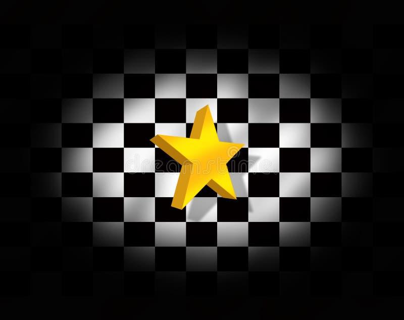 Estrella y bandera a cuadros libre illustration