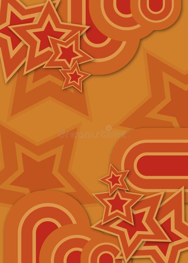 estrella y círculo retros de los años 70 libre illustration