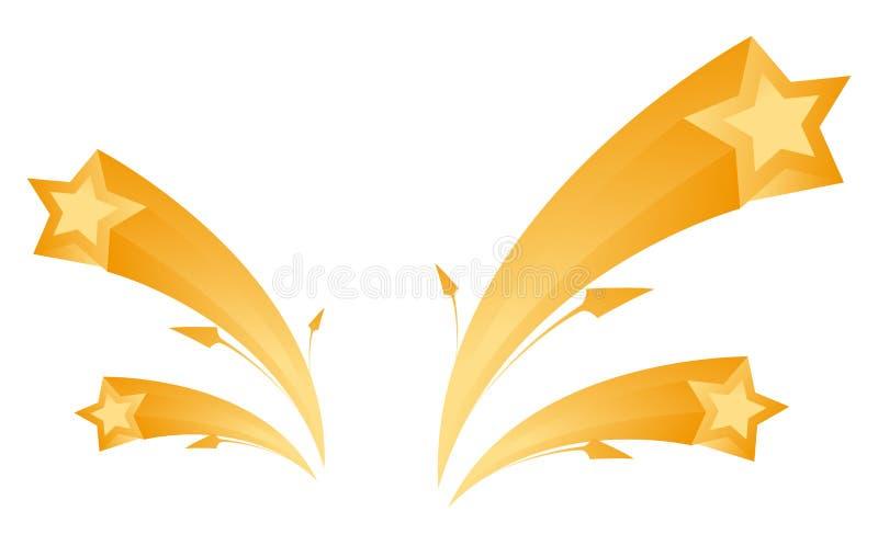 Estrella y flecha ilustración del vector
