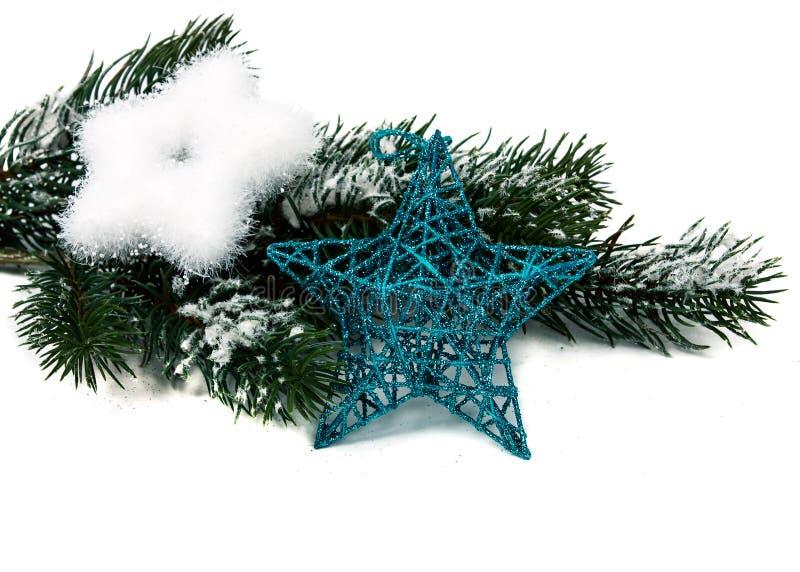 Estrella y tres de la Navidad imagenes de archivo