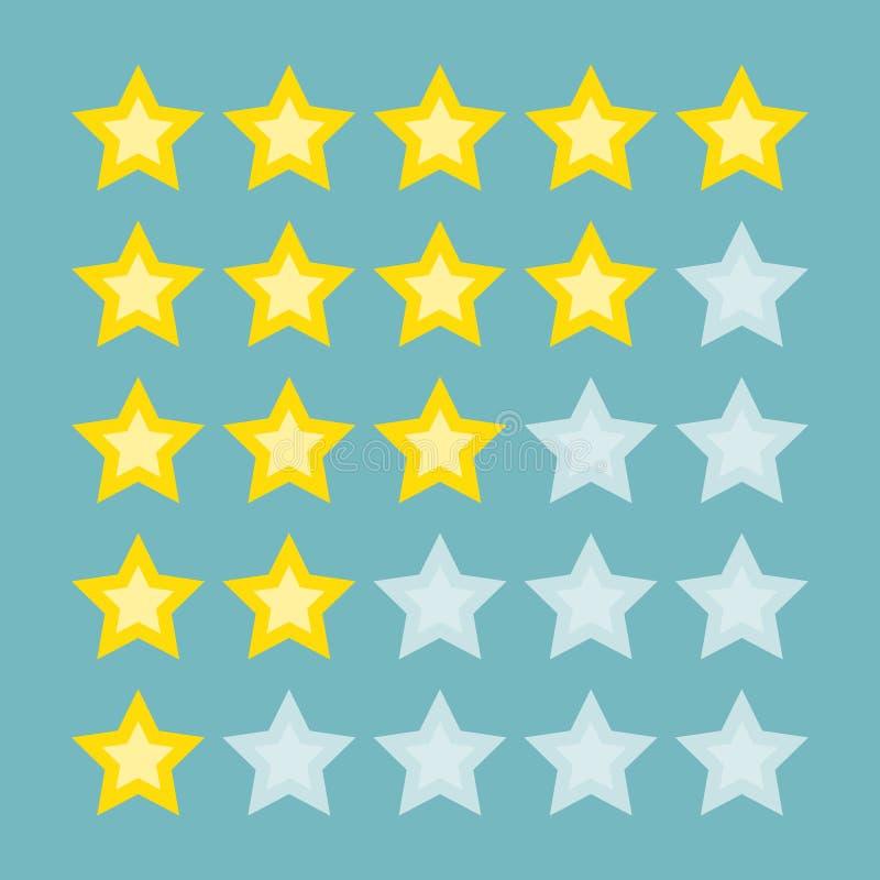 Estrellas amarillas del grado stock de ilustración