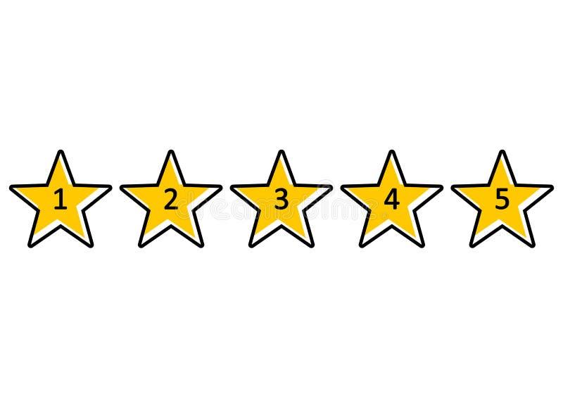 Estrellas amarillas para valorar Ilustraci?n del vector stock de ilustración