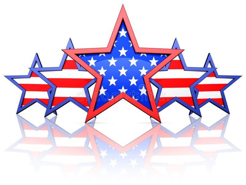 Estrellas americanas foto de archivo
