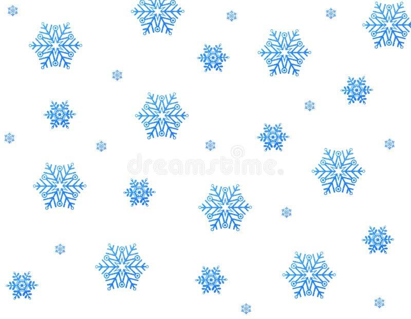 Estrellas azules de la nieve stock de ilustración