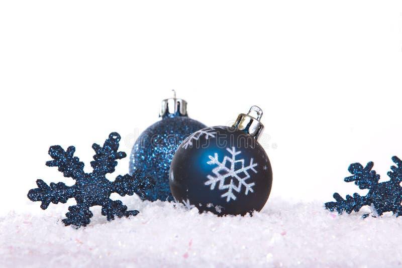 Estrellas azules y bolas imágenes de archivo libres de regalías