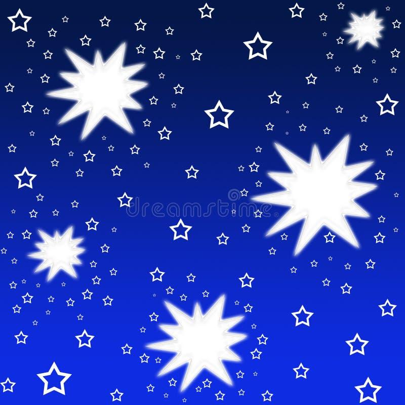 Estrellas brillantes stock de ilustración