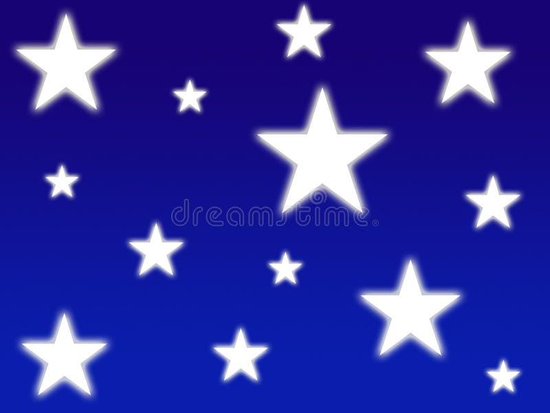 Estrellas brillantes blancas ilustración del vector