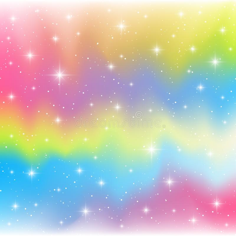 Estrellas brillantes en fondo del color stock de ilustración