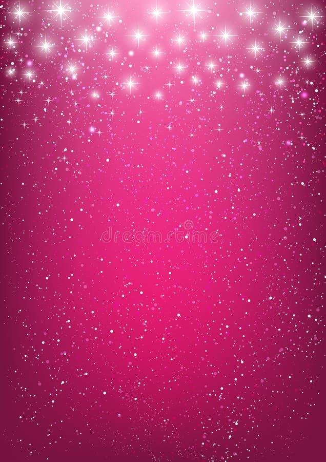 Estrellas brillantes en rosa ilustración del vector