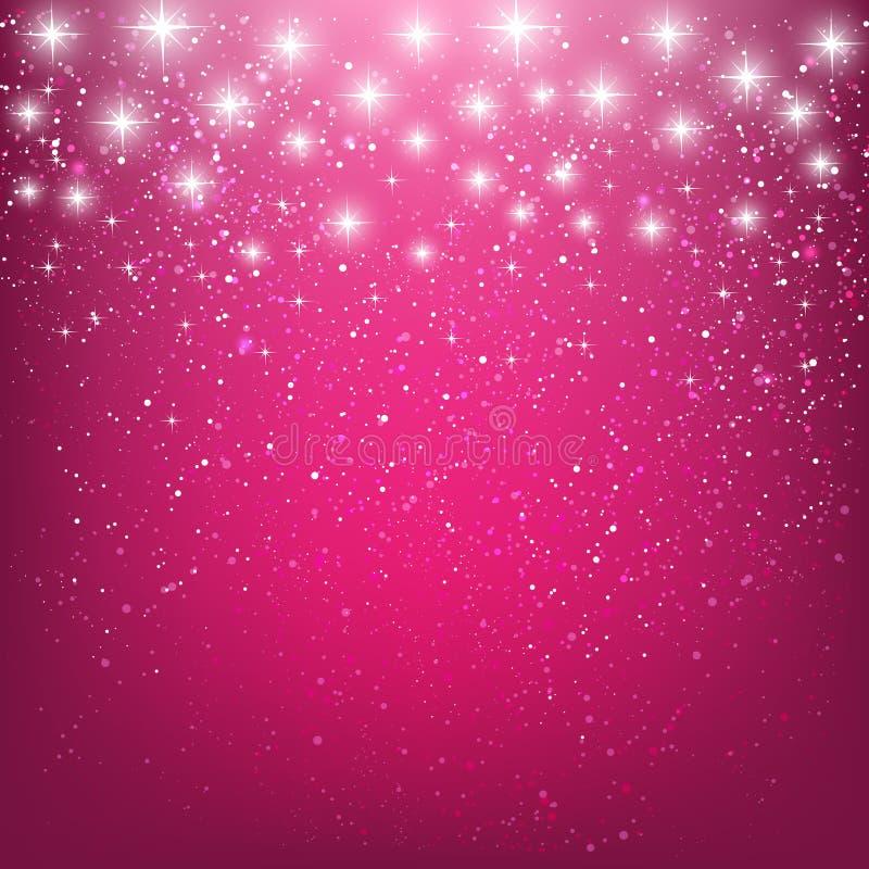Estrellas brillantes en rosa libre illustration