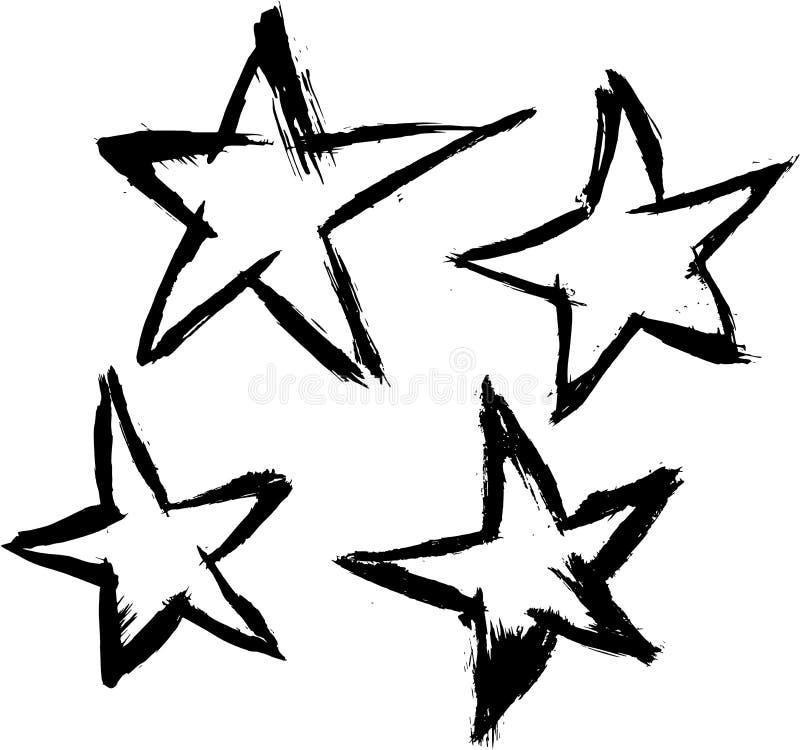 Estrellas cepilladas del vector fotos de archivo libres de regalías