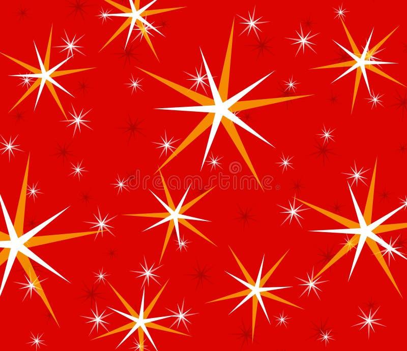 Estrellas chispeantes del centelleo rojo imagen de archivo